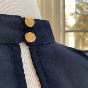 Blue Blush Tops - Agaci / Blue blush Navy blue high neck crop top